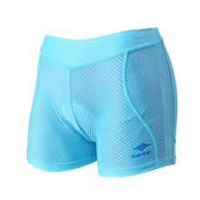 Women Santic Silicone Padded Cycling Shorts Knickers Sports Underwear Protective Sky Blue Cycling Bike Shorts hombre S25164101B