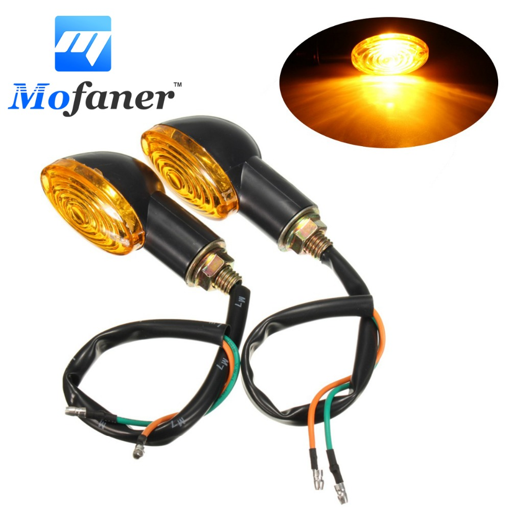 Low Price 2pcs Motorcycle Indicators Mini Turn Signal Blinker Light Add Beautiful Car Brake Lights By Bc327 Amber Lens For Cat Eye Honda