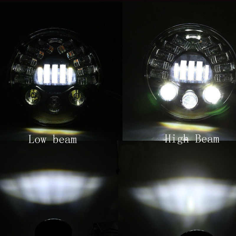 FADUIES 7inch Adaptive Round Motorcycle Led Projector Daymaker Headlight  High Low Beam For Harley BMW R NineT R9T LED Headlight