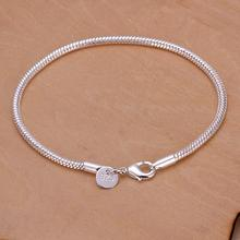 Free shipping 925 jewelry silver plated bracelet fine fashion Twisted Line bracelet top quality wholesale and retail A165c