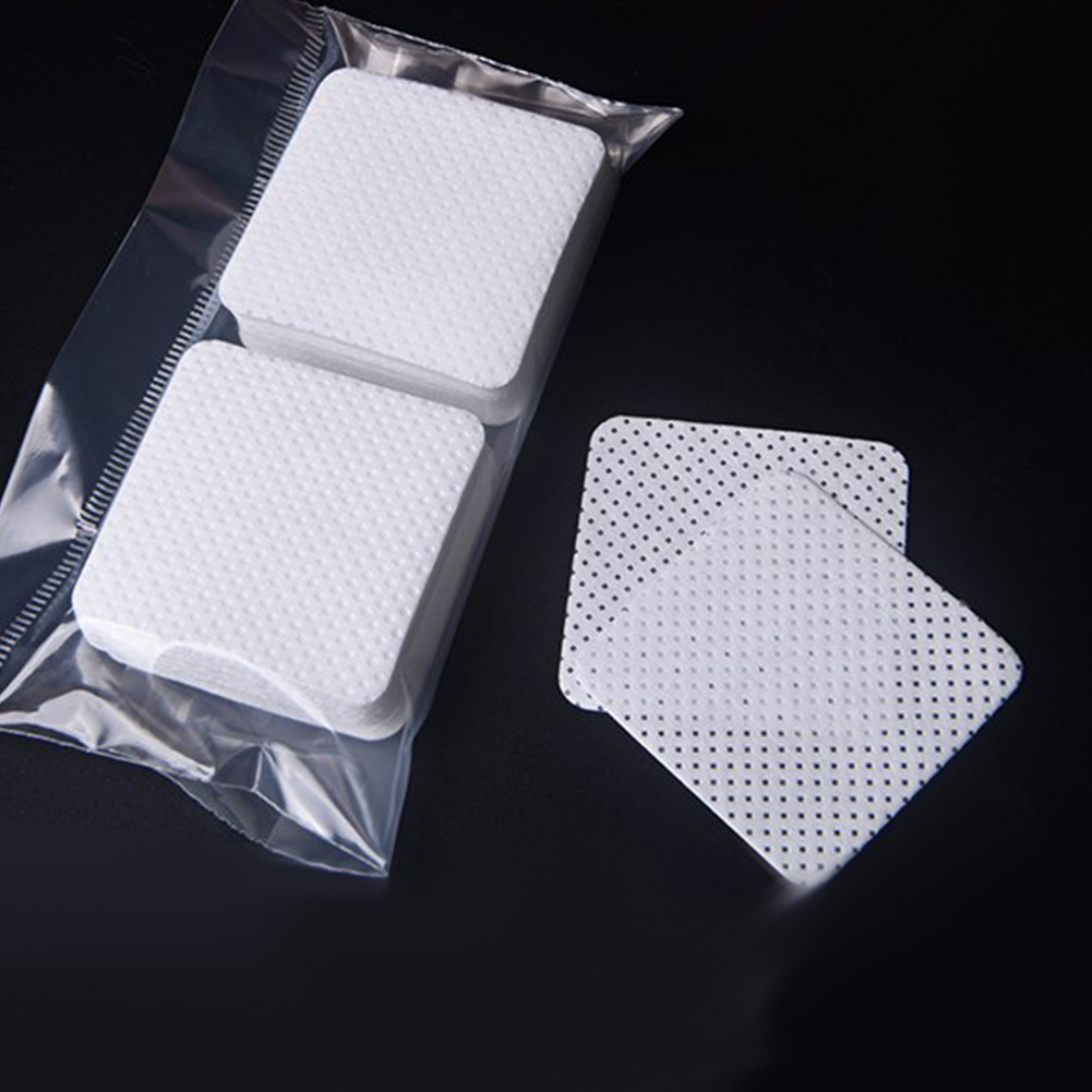 100Pcs Professional Grafting Eyelash Glue Pads Adhesive Remover Cleaning Sheets in Eyelash Glue from Beauty Health