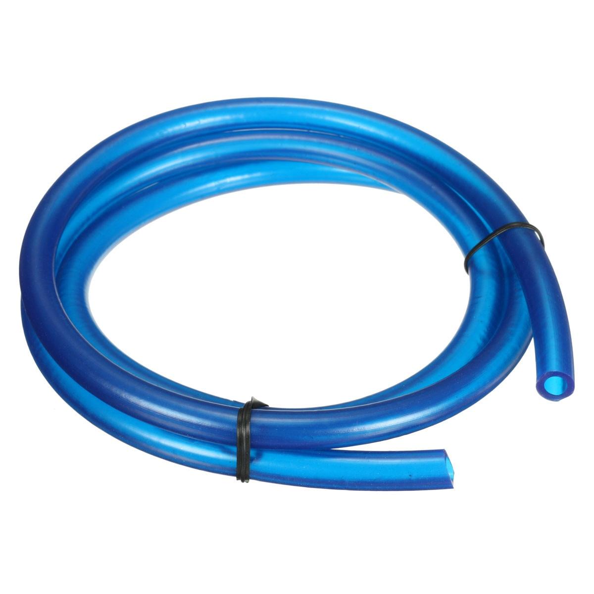 Мотоциклетный шланг, 1 метр, 1 м, шланг для бензиновой топливной линии, шланг для газового масла, труба из нейлона, мягкая, для Мини Мото, грязи, велосипеда, Honda, Suzuki, Yamah - Цвет: Синий