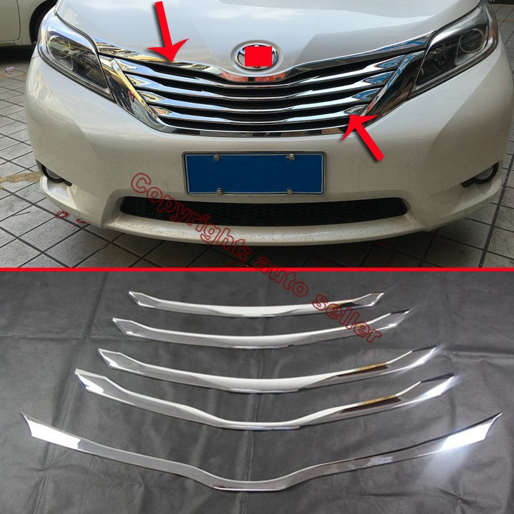 2016 Toyota Sienna Exterior: ABS Chrome Front Grille Trim For Toyota Sienna 2015 2016