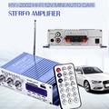 HI-502 Amplificador de Áudio Estéreo Do Carro FM USB Locutor de Rádio MP3 Hi-Fi 2 Canal Digital Display LED Jogador Poder para Auto motocicleta
