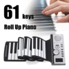 Portable Piano Digital Electronic Black And White 61 Keys Universal Flexible Roll Up Soft Keyboard Piano