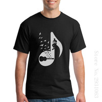 Short Sleeved Clothes O Neck Mens T Shirts Musical Note Acoustic Guitars Tee Camisetas Masculina Swag