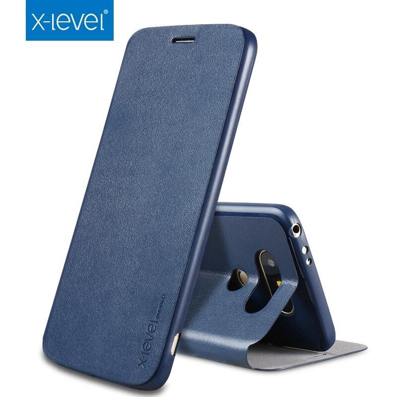 bilder für Neue Ankunft Für LG G6 Flip Fall! Luxus X Ebene Klassische Flip Ledertasche Für LG G6