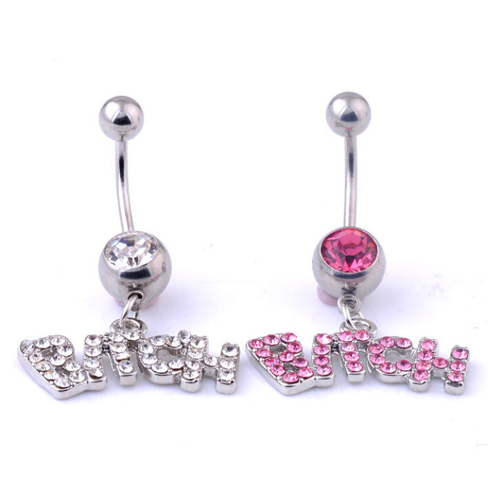 Popular letter belly button rings buy cheap letter belly for Belly button jewelry store