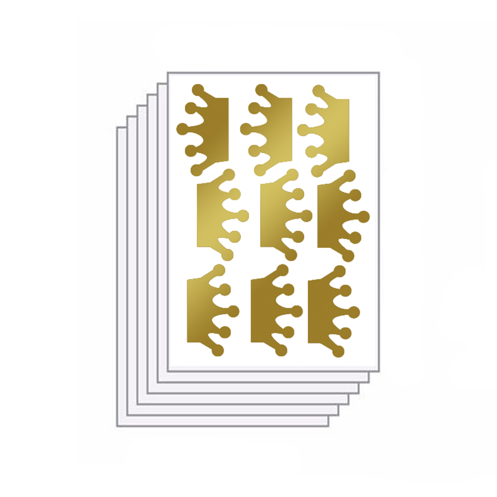 Funlife 6 sheets/pack 36pcs Glitter Gold , Silver or bronze Crown ...