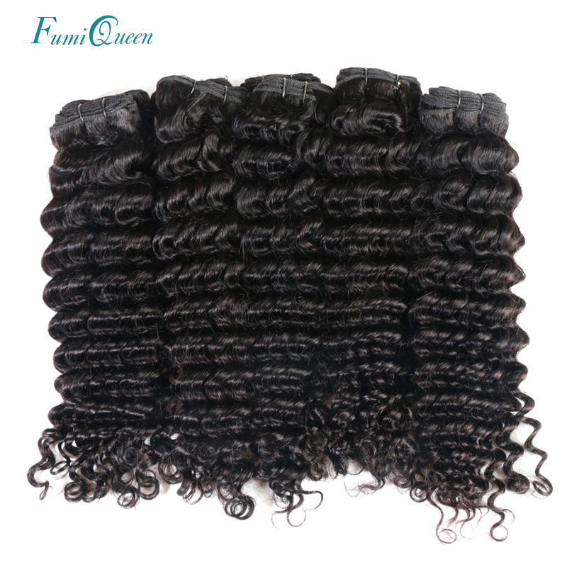 Ali Fumi Queen Hair Products Remy Hair Peruvian Deep Wave 10 PCS Lot 100% Remy Human Hair Weave Natural Color Free Shipping