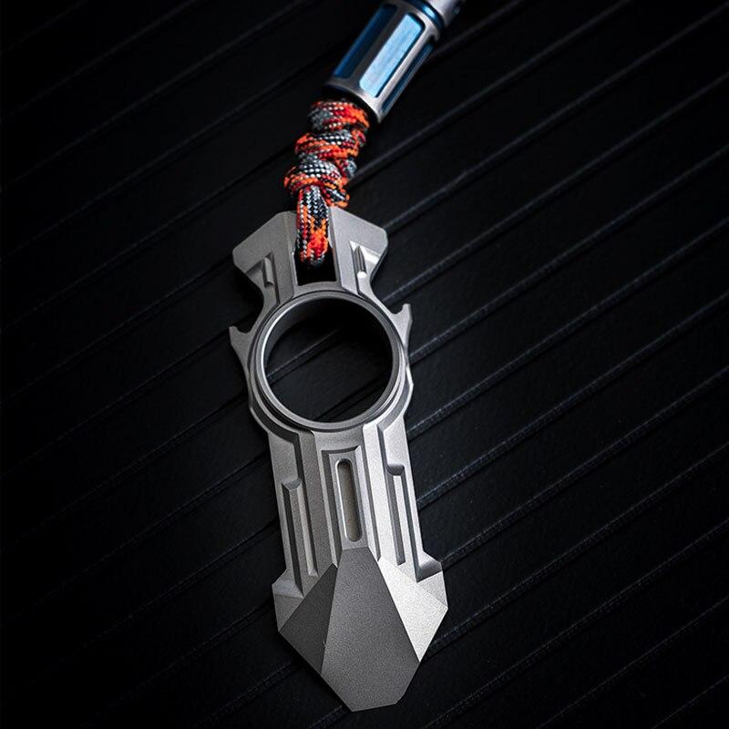 EDC pied de biche outils titane ouvre-bouteille tournevis portables outils de Camping édition limitée collier porte-clés multifonctionnel
