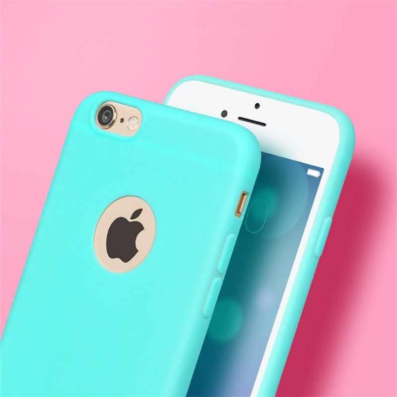 Funda de piel mate ultrafina para iPhone 6 6S suave funda de silicona TPU para iPhone X 6S 5 5S SE 6 7 Plus