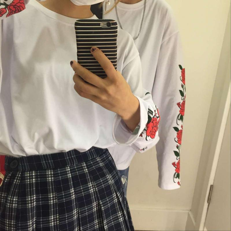 HTB1BVy3PVXXXXbTXVXXq6xXFXXXY - T Shirt Style Thin Long Sleeve Print Flower Rose PTC 145