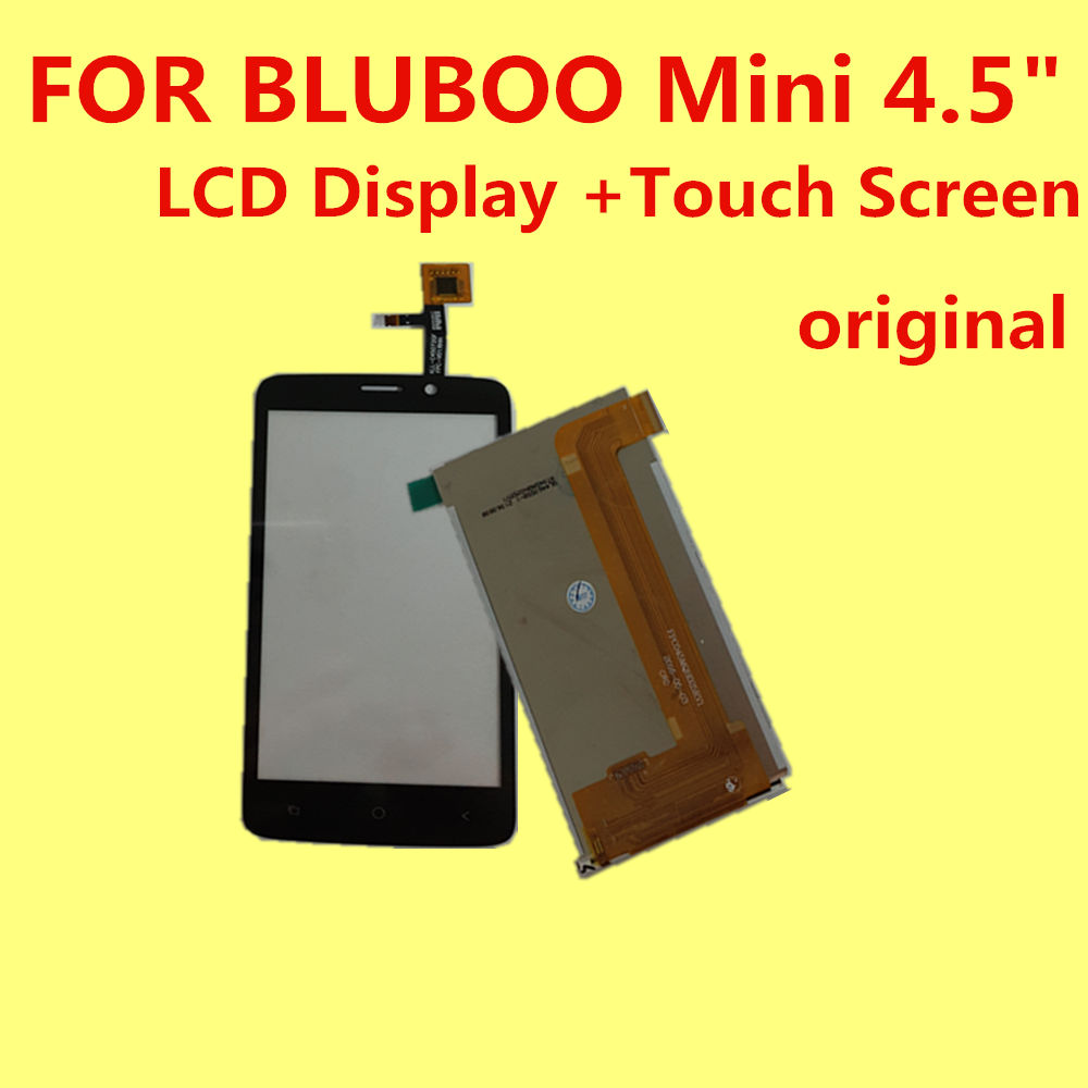 FOR BLUBOO Mini 3g LCD Display +Touch Screen 100% Original Digitizer Assembly Replacement Accessories For Phone 4.5 MT6580m