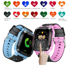 GSM Phone Positioning Fashion Children Smartwatch 1.44 Inch Color Touch Screen SOS Call Location Finder Anti Lost Smart Watch O2