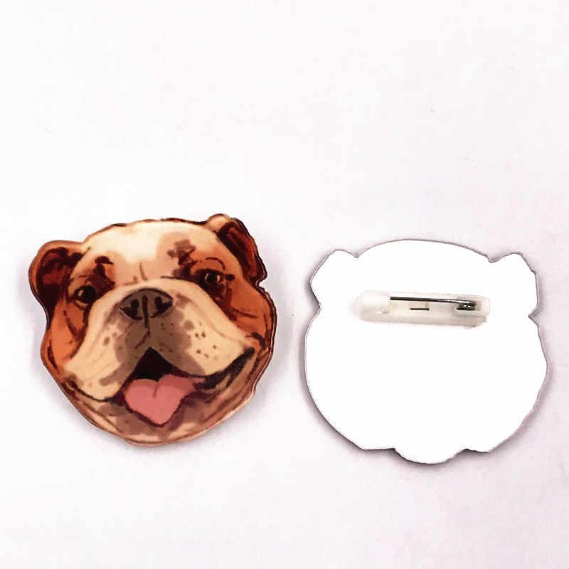 1 pieza lindo Animal cerdo perro Panda dibujos animados alfileres y broches para Mujeres Hombres solapa Pin mochila bolsas insignias niños regalos de juguetes de peluche