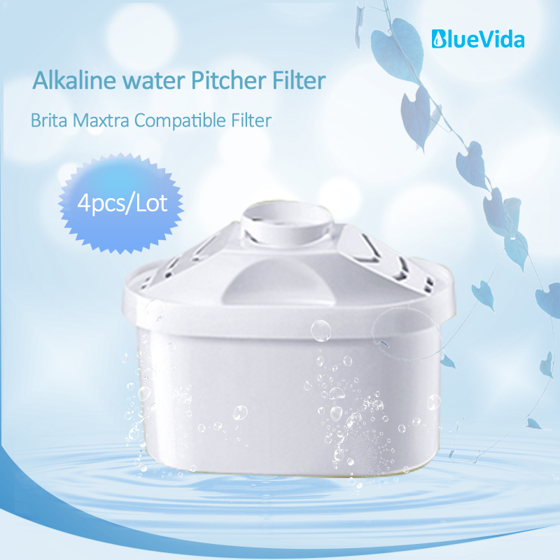 4 unidades/pacote Alta Alcalina Jarro de Filtro de Água Cartucho cartucho de filtro de água purificada com pH alcalino 9.5