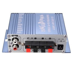 Image 2 - RCA 2CH Hi Fi amplificateur stéréo Booster MP3 haut parleur pour voiture DVD Mini Moto vente chaude