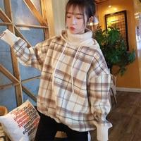 New Fashion Korean Harajuku Shirt Christmas Shirts Womens Long Sleeve Tops 90s Plus Size Women