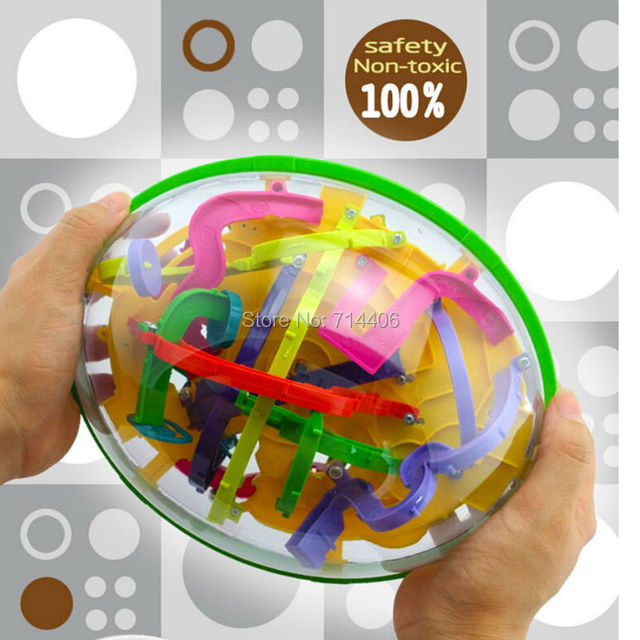 3D Magic Maze Ball 299 steps Closed Level Intellect Ball,children education intelligence toy christmas gift IQ Balance toys