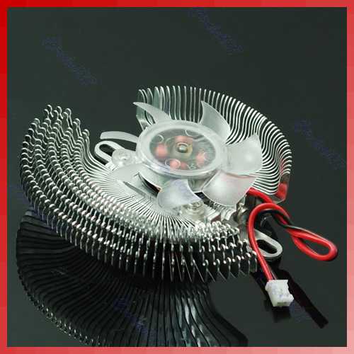 New 2 Pin Small QQ Computer Graphics Card Heatsinks Cooler Cooling Fan computer cooler radiator with heatsink heatpipe cooling fan for hd6970 hd6950 grahics card vga cooler