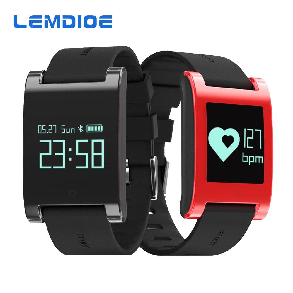 imágenes para LEMDOIE DM68 inteligente a prueba de agua banda muñequera gimnasio rastreador heart rate monitor de Presión Arterial Llamadas Mensajes de reloj para el teléfono