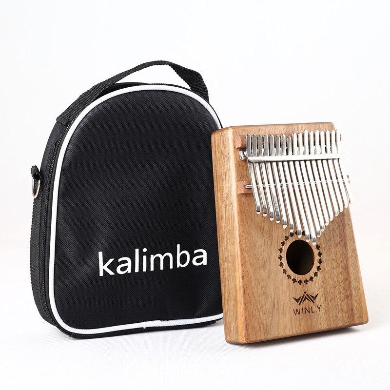 17 clé Doigt Kalimba Mbira Sanza Piano à pouces Poche Taille Soutenir Sac Gecko Clavier Marimba Bois Instrument de musique