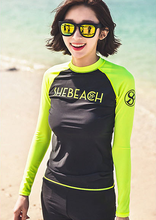 New 2016 Fluorescence Color Suit Sunscreen Dry Long Sleeved Swimsuit Tight Clothing Fitness Snorkeling Beach Jellyfish