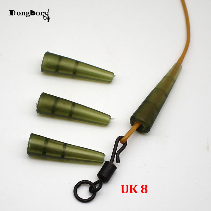 20PCS Carp Fishing Mini Anti-Tangle Sleeves Connect With Fishing Hook Green Rubber Quick Change Hook Sleeve For Carp Fishing