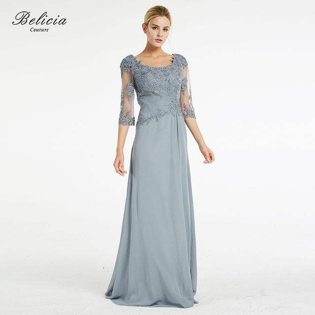 Belicia Couture Mother of the Bride Dresses Appliques Beading Lace Half  Sleeves Formal Evening Dresses Elegant 7c7cc068c791