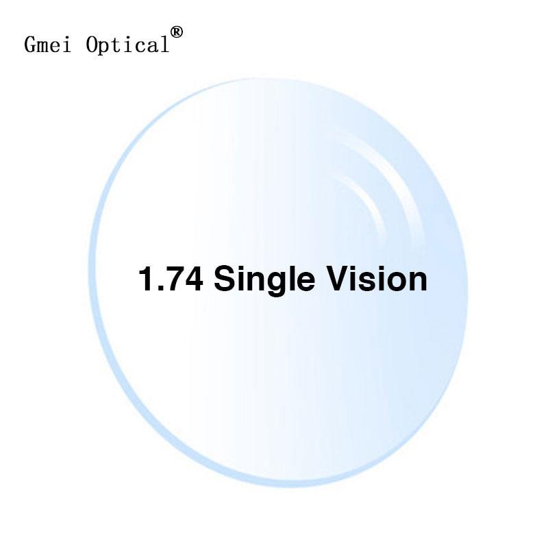1.74 Ultrathin Single Vision Prescription Eyeglasses Optical Lenses With Full UV Protection & Anti-Reflection Coating 2 Pcs