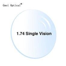 1.74 超薄型単焦点処方眼鏡光学レンズとフルuv保護 & 反射防止コーティング 2 個