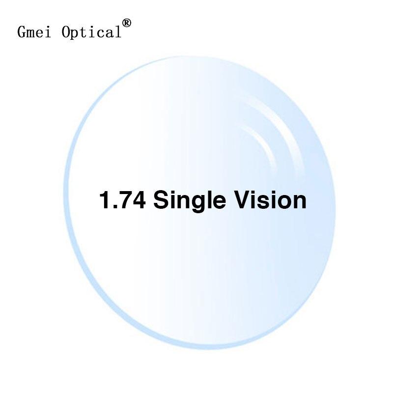 1.74 verres optiques ultra-minces à Vision unique avec Protection UV complète et revêtement anti-reflets 2 pièces