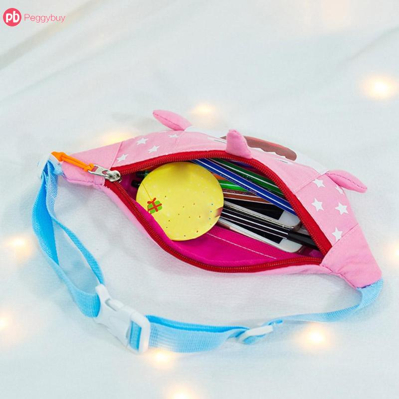 f91ad4c034be Kids Cute Waist Bag Shark Smile Belt Bag Mini Zipper Fanny Pack Canvas  Shoulder Waist Pack Small Colorful Handbags For Kids-in Waist Packs from  Luggage ...