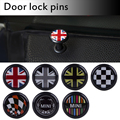 mini cooper door lock buttons Interior Door Lock Round Pin wing logo emblem cover universal cover car styling
