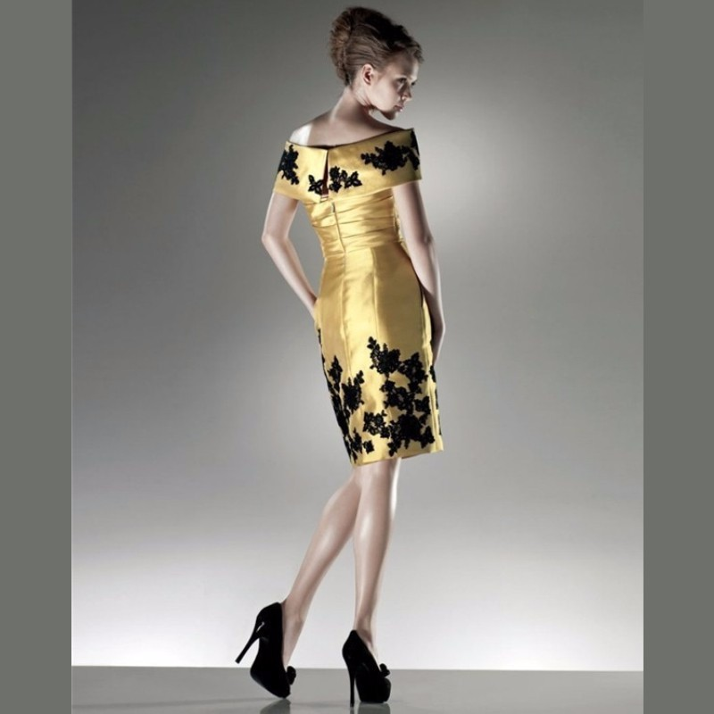 100-High-Quality-MANSA-2015-New-Design-Elegant-Evening-Dress-Black-Appliques-Gold-Knee-Length-Mother (1)