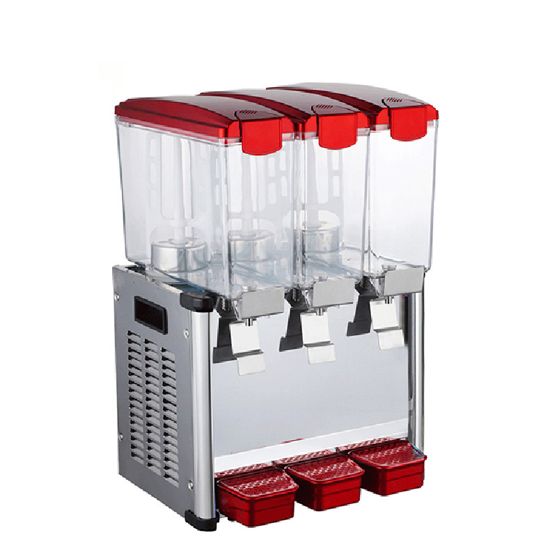 Jamielin Three Cylinder Drink Container 9L *3 Commercial Juice Dispenser Cool & Mixing Cold And Hot Beverage Machine