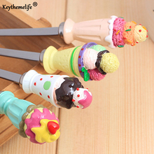 Ice Cream Shape 4PCS/SET Coffee Spoon Teaspoon Condiment Sugar Measuring Fashion Cute Style Set for Wedding Childen Gift C2
