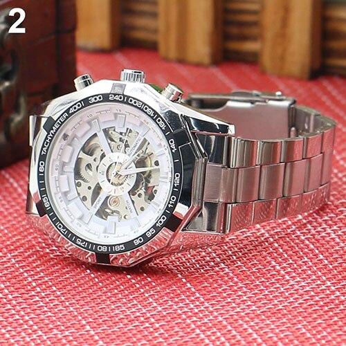Gofuly 2020 Heren Horloges Rvs Mechanische Horloge Hand-Winding Skeleton Automatische En Sport Polshorloge Orologio Uomo 3