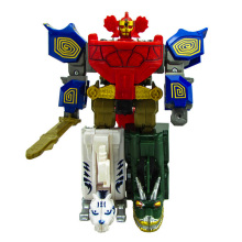 5 In 1 Action Figure Transformation Robot Children Toys Gifts Dinosaur Ranger Assemble Megazord цены