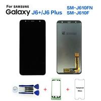 Для samsung Galaxy J6 + 2018 J610 SM-J610F J610FN ЖК-дисплей Экран Замена для samsung J6 плюс SM-J610F ЖК-дисплей Экран