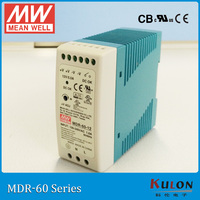 MEAN WELL Single Output Industrial DIN Rail Power Supply MDR 60 24 60W 24V Switching Power