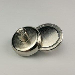 10 шт. D32mm Неодимовый N52 магнит горшок с внутренней резьбой шпилька супер мощная светодиодная панельная арматура камера стальная чашка Магни...