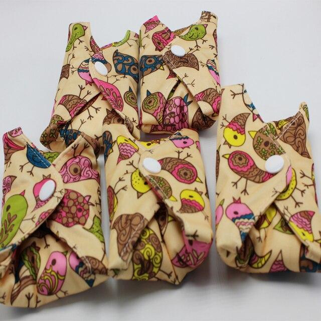 Tebeiyoufabric serviettes hygiéniques menstruelles flux lourd nuit période menstruelle tampons réutilisables 5 pièces/ensemble