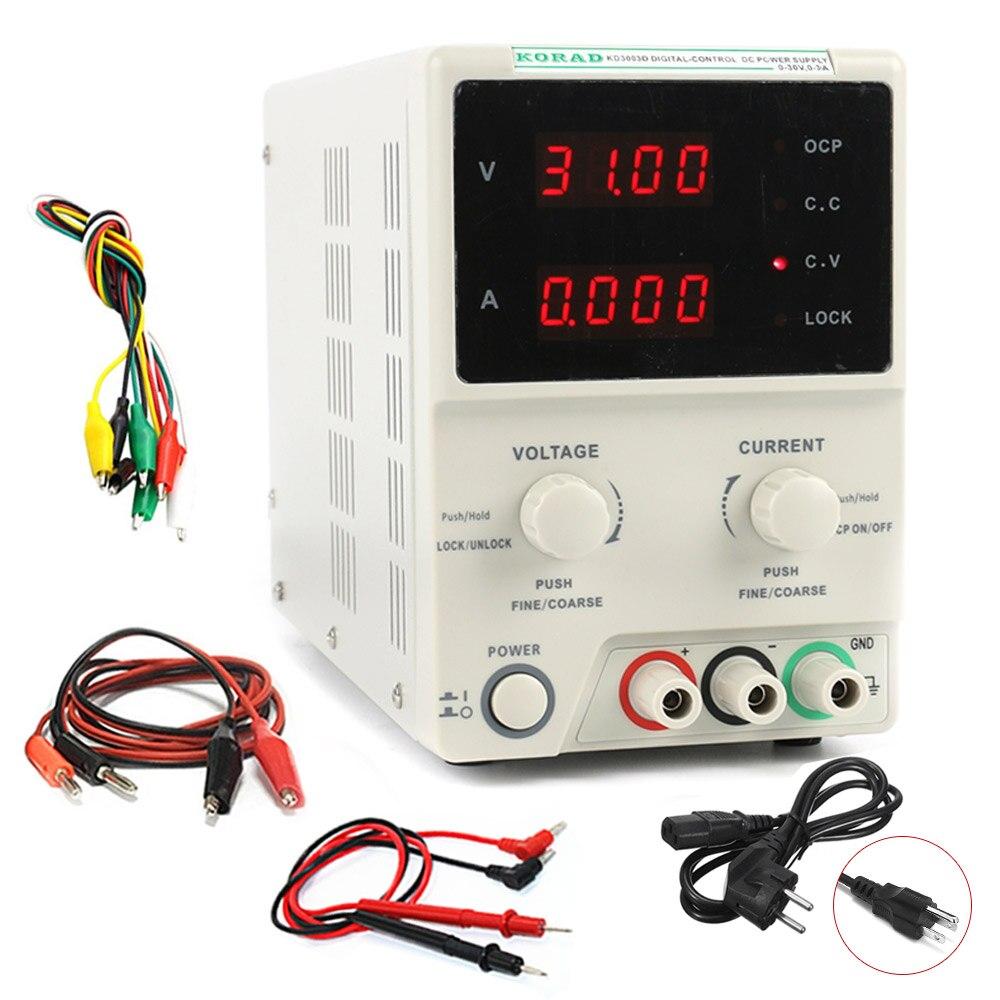 KD3005D laboratoire alimentation réglable haute précision 4 chiffres affichage 30 V 5A régulateur DC alimentation ordinateur portable réparation