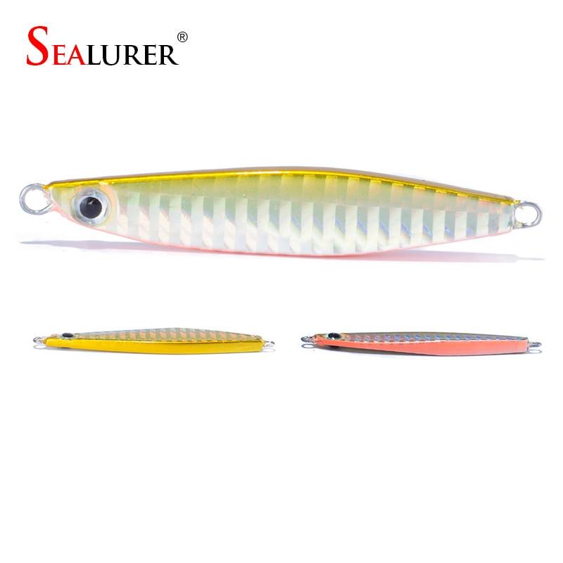 SEALURER  Jig 22g 70mm knife Jigging Seawater Spoon Slow Jigging Lure artificial bait boat fishing jigs lures
