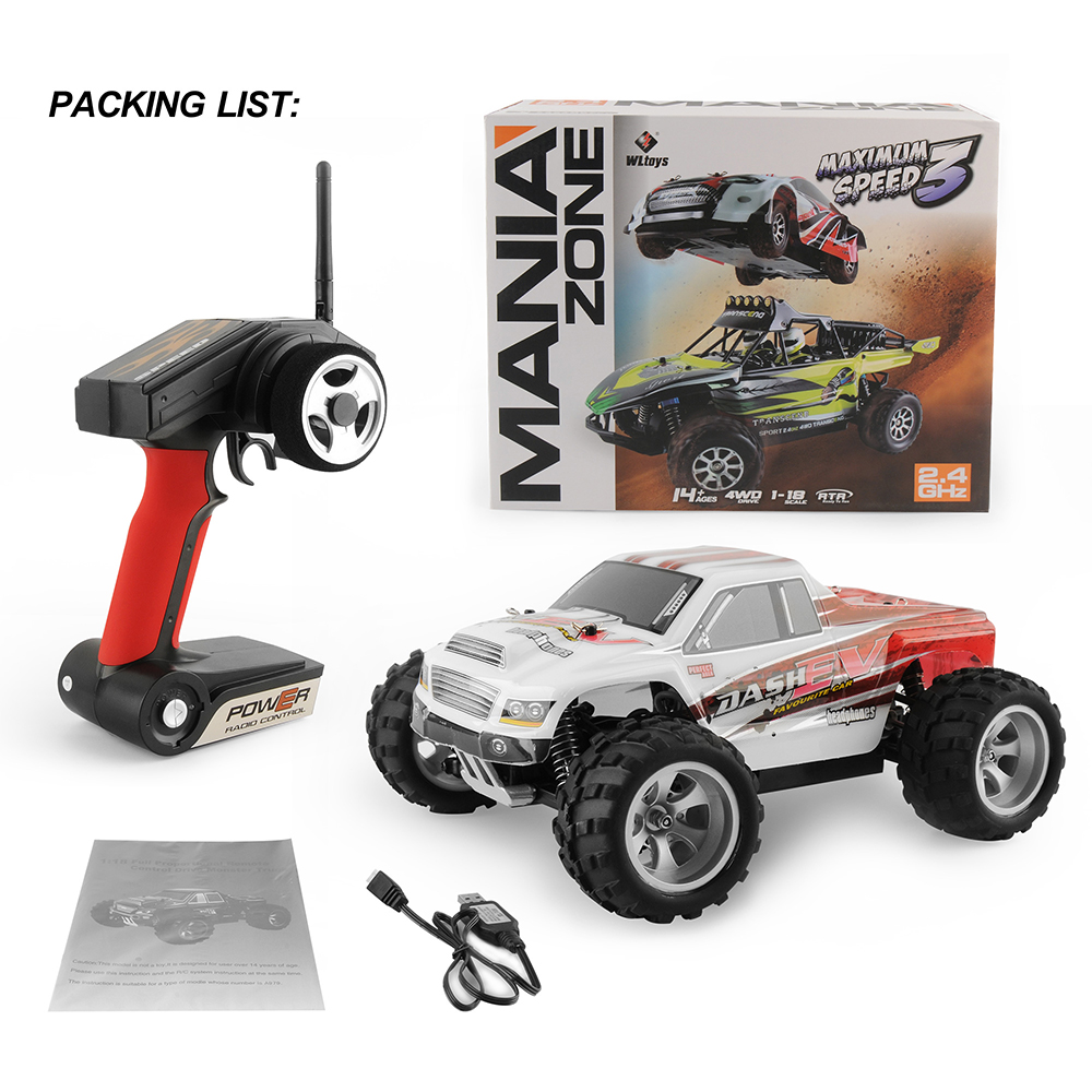 GizmoVine Rc Car Wltoys A959 / A979 1:18 upgrade version 70km/h 2.4G RC car 4WD Radio Control Truck RC Buggy High speed off-road wltoys 12402 rc cars 1 12 4wd remote control drift off road rar high speed bigfoot car short truck radio control racing cars