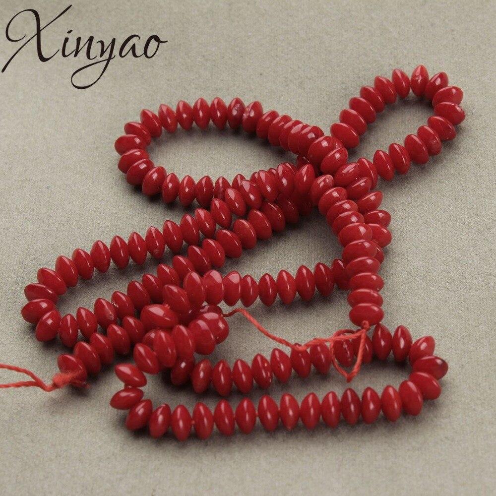 09c1da0d33b1 1 hebra/lote piedra semipreciosa Natural Coral rojo cuentas espaciadoras  sueltas para Diy cuentas ...