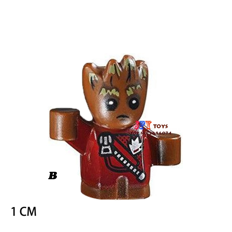 Single star wars superheroes building blocks Guardians of the Galaxy Groot model bricks toys for children brinquedos menino поло print bar orange abstract
