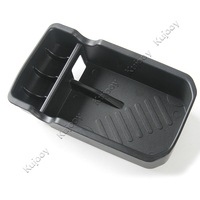 For Jeep Compass 2017 Black Car Central Armrest Box Storage Container Grid Holder Tray Cover Trim
